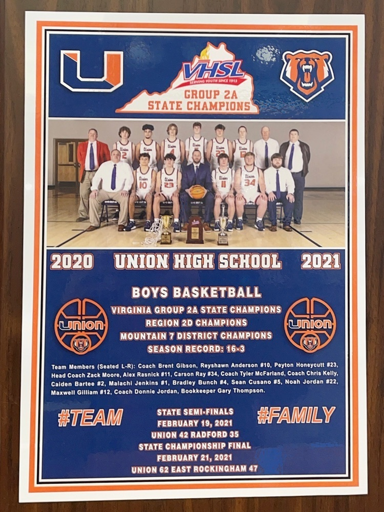 image of plaque from Union High School